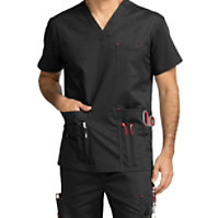 Med Couture MC2 Men's Red Alert Multi Pocket Tops