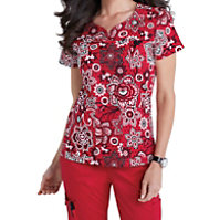 Med Couture MC2 Lexi Budding Romance Print Tops