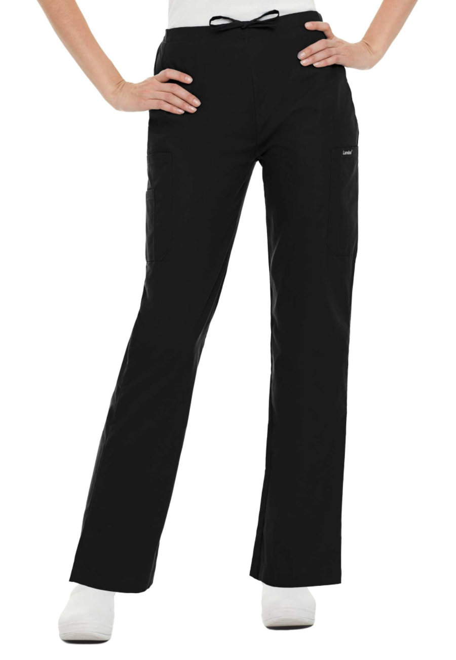 Landau Essentials Classic Cargo Drawstring Pants - Black - XL