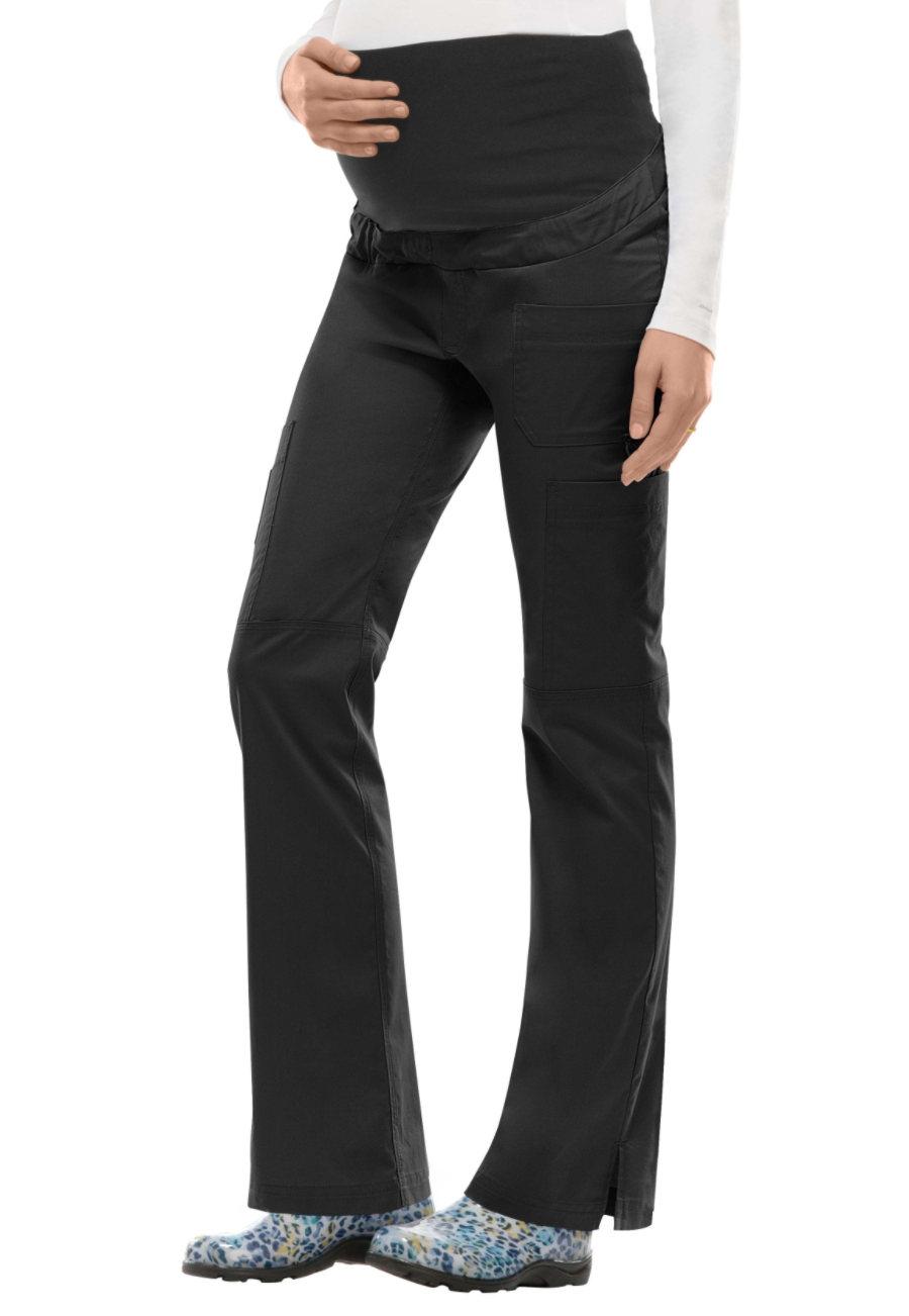 Dickies Gen Flex Youtility Flip Waist Maternity Cargo Scrub Pants - Black - XL plus size,  plus size fashion plus size appare