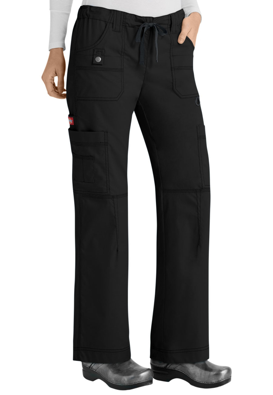 Dickies Gen Flex Youtility 9-pocket Drawstring Cargo Scrub Pants - Black - 2X plus size,  plus size fashion plus size appare