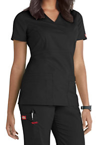 Dickies EDS Signature Mock Wrap Scrub Tops