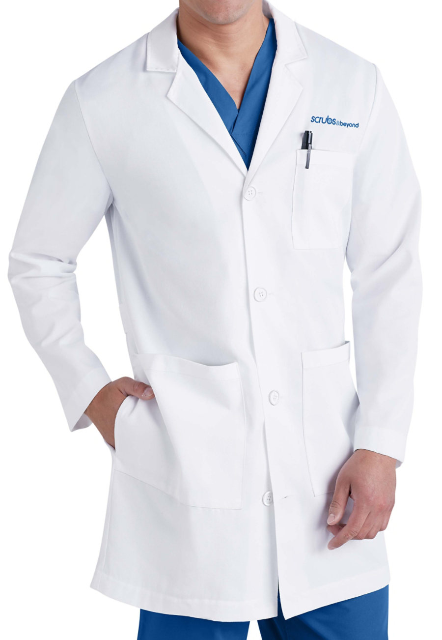 Beyond Labs 38 Inch Men's Lab Coats - White - 32 plus size,  plus size fashion plus size appare