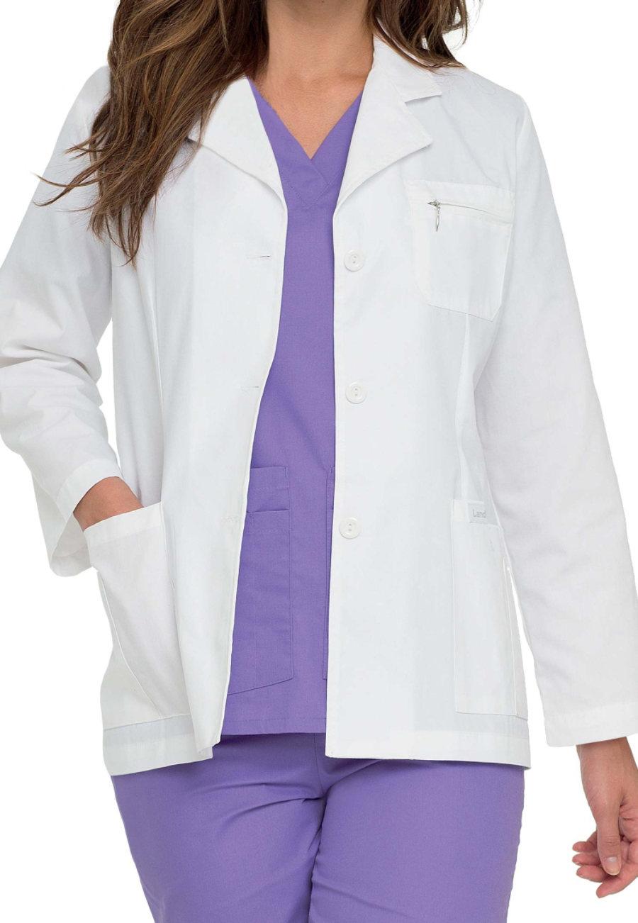 Landau Women's 30 Inch Professional Lab Coats - White - XS plus size,  plus size fashion plus size appare