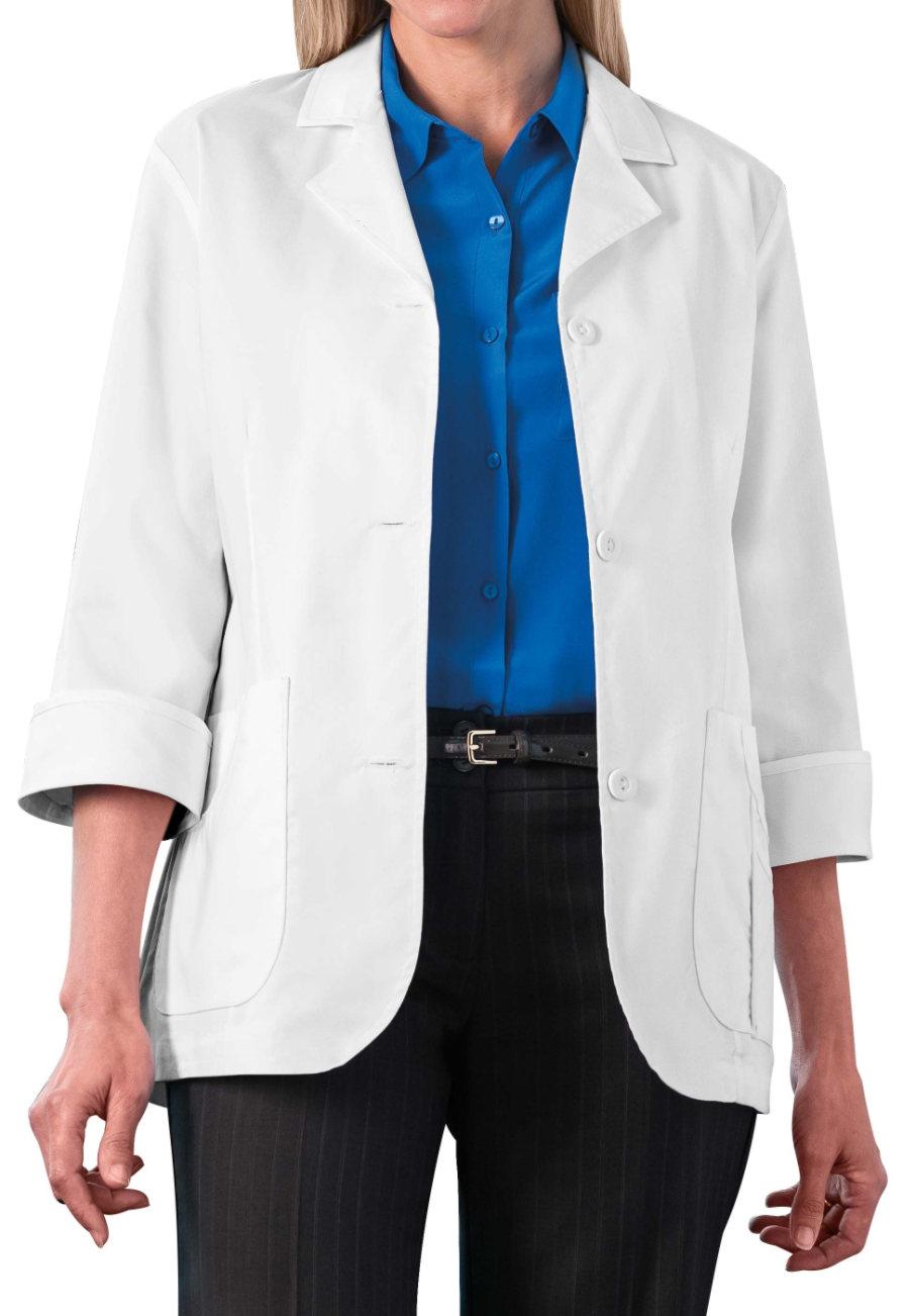 META Women's 29 Inch 3/4 Sleeve Stretch Lab Coats