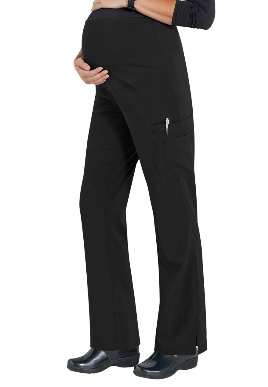 Med Couture Plus One Maternity Cargo Scrub Pants - Black - 2X plus size,  plus size fashion plus size appare