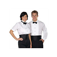 Henry Segal Ladies Lay Down Collar Tuxedo Shirt