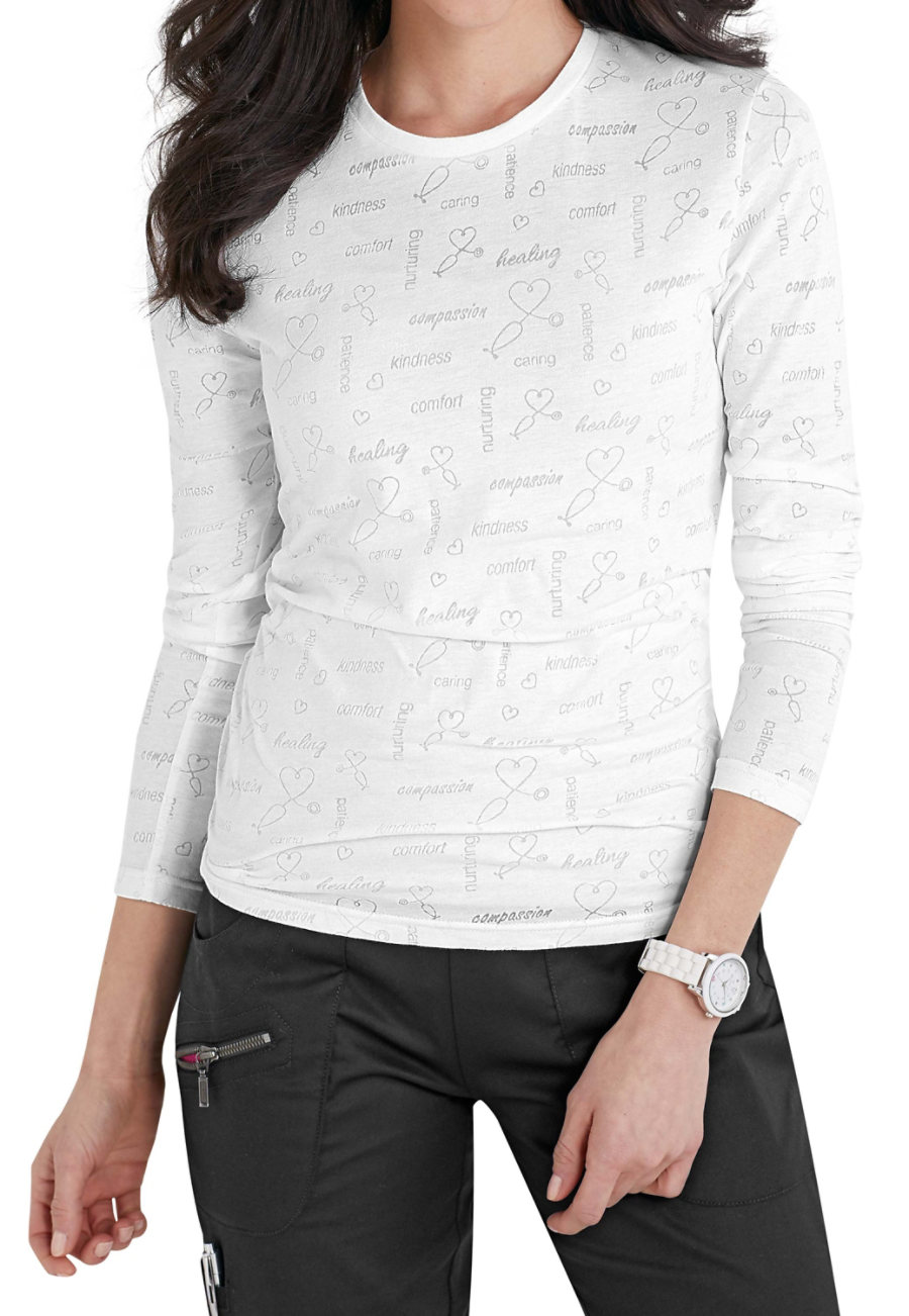 Beyond Scrubs The Caregiver Long Sleeve Burnout Tee - The Caregiver Is