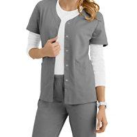 Urbane Ultimate Megan Snap Front Short Sleeve Jackets