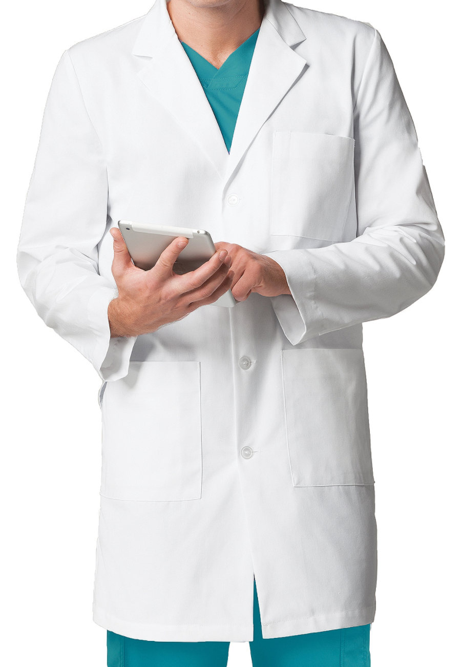 Mr. Barco Mens 38 Inch 4-Pocket Lab Coats