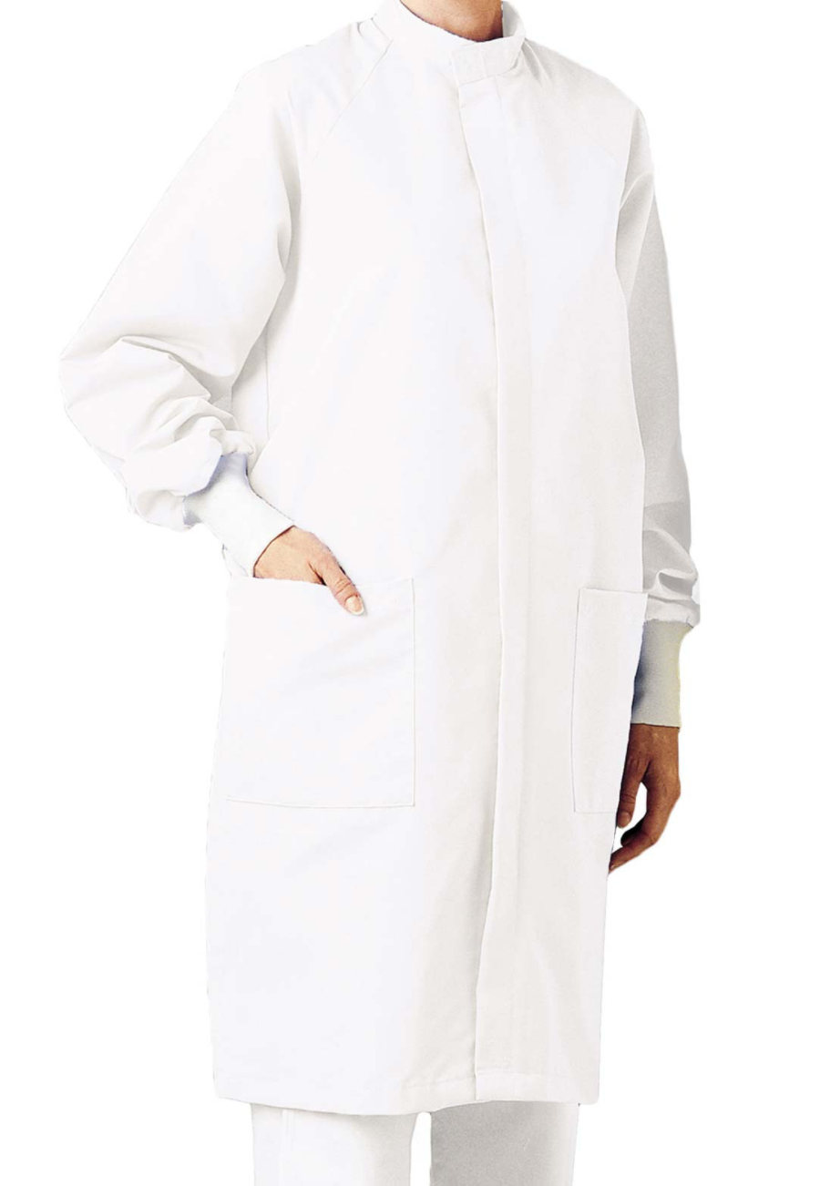 Landau Unisex Full Length Barrier Lab Coats - White - L plus size,  plus size fashion plus size appare
