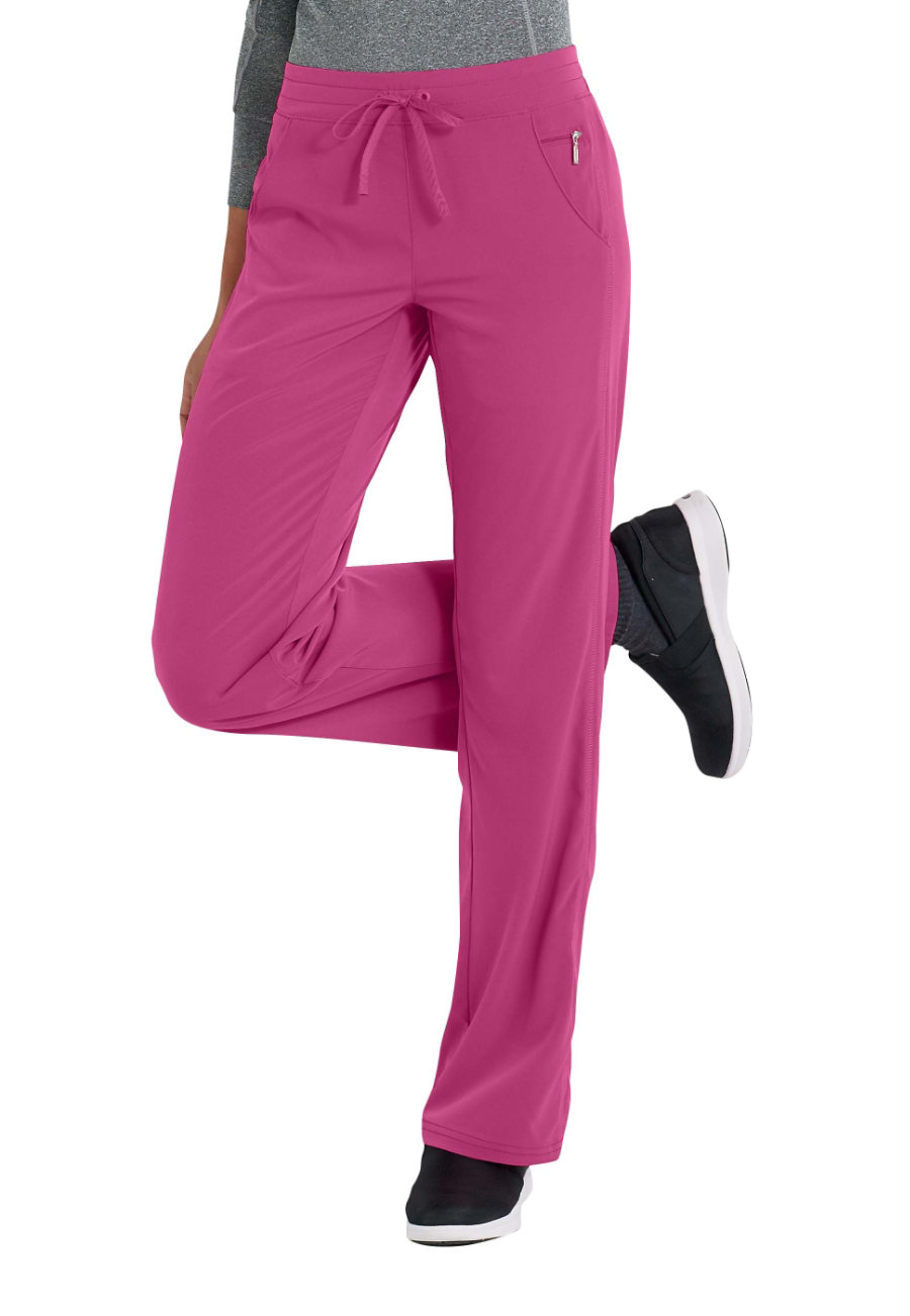 Beyond Scrubs Active Katie Drawstring Scrub Pants pink