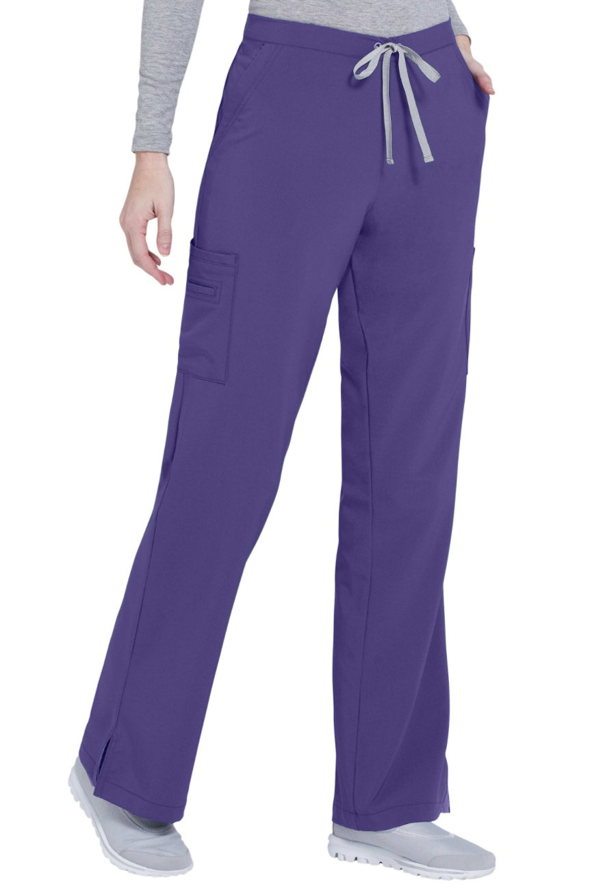 Urbane Performance Endurance Cargo Scrub Pants - African violet - M plus size,  plus size fashion plus size appare