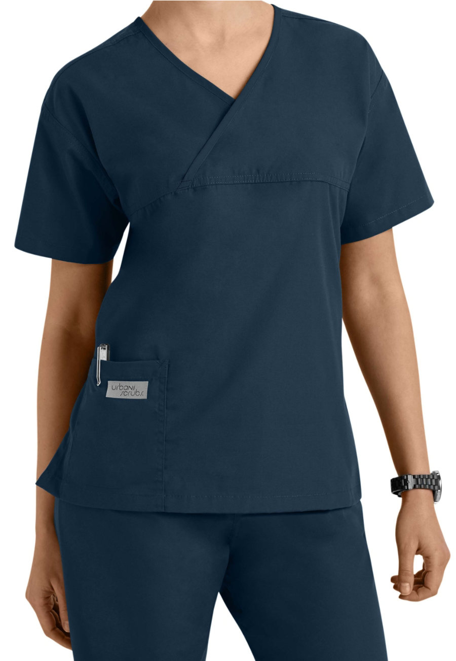 Urbane Essentials Classic Crossover Scrub Tops
