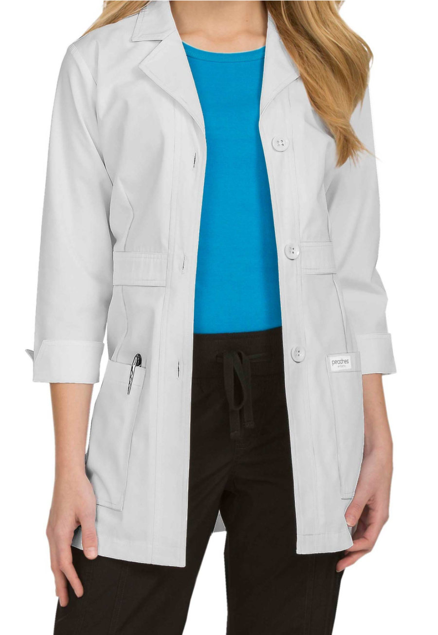 Med Couture Women's 31 Inch Button Front Lab Coats