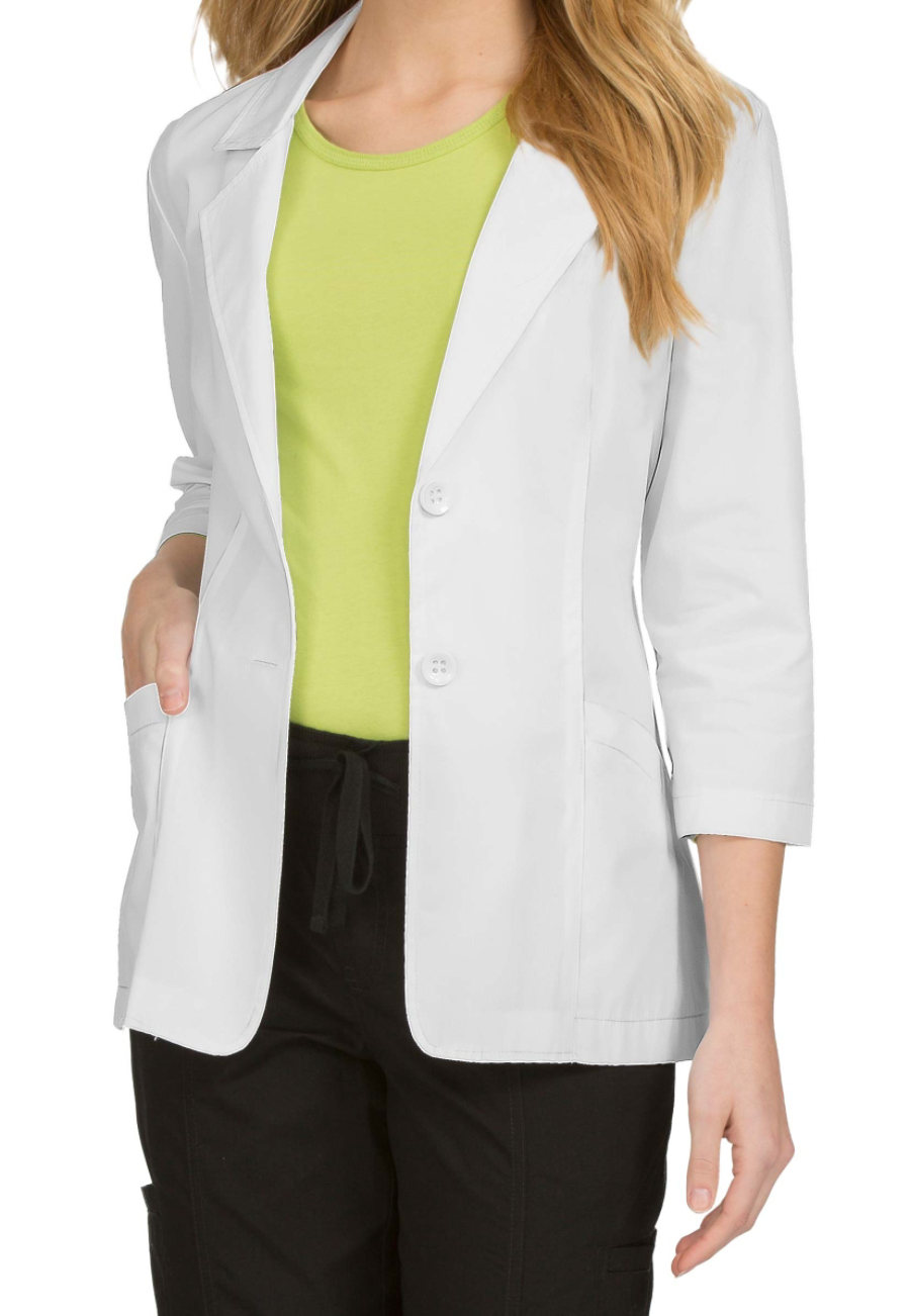 Med Couture Women's 28 Inch 3/4 Sleeves Lab Coats