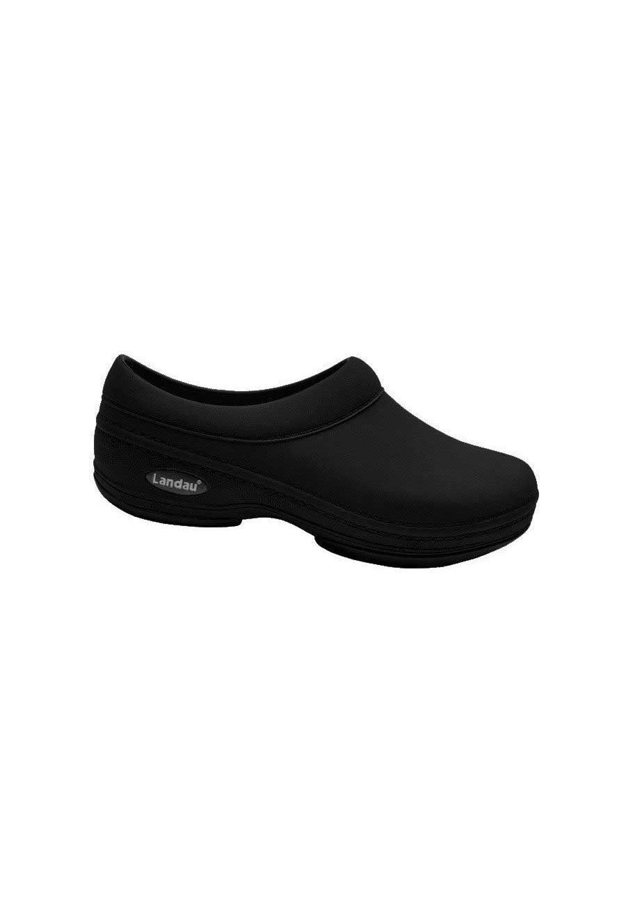 Landau Comfort Unisex Slip Resistant Nursing Clogs - Black - 8 plus size,  plus size fashion plus size appare