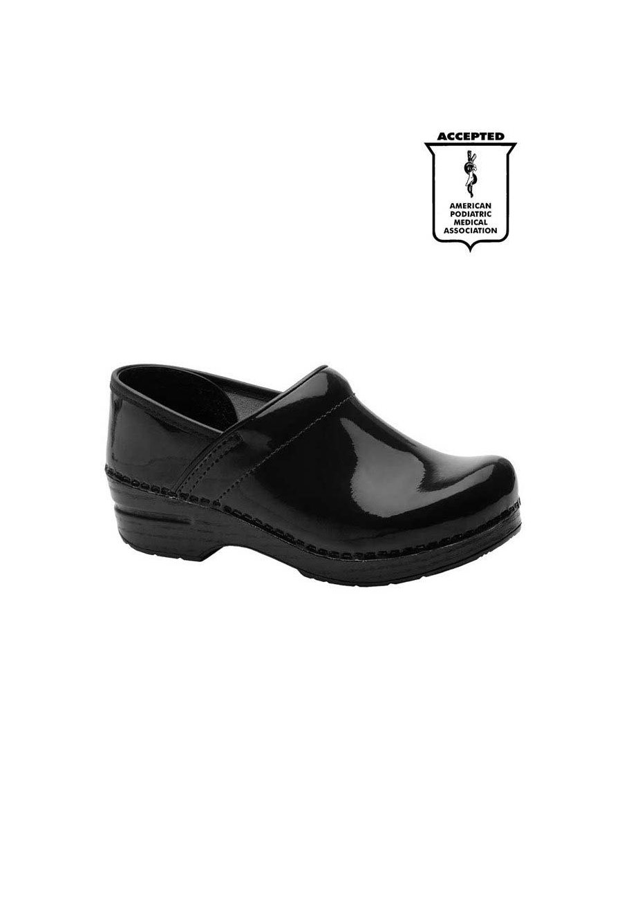 Dansko Professional Patent Leather Nursing Clogs - Black - 36 plus size,  plus size fashion plus size appare