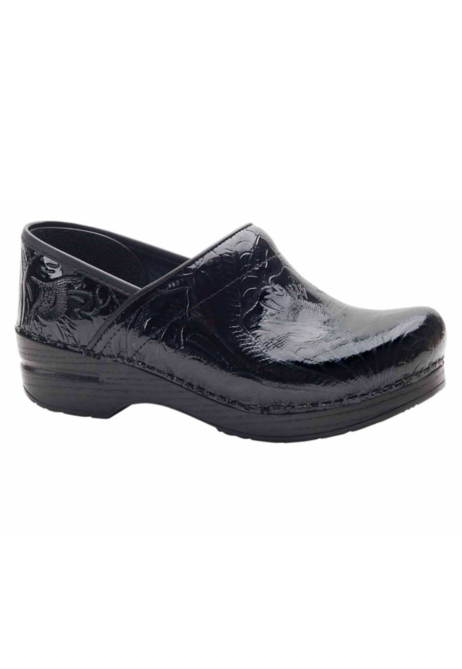 Dansko Professional Tooled Leather Nursing Clogs - Black - 36 plus size,  plus size fashion plus size appare
