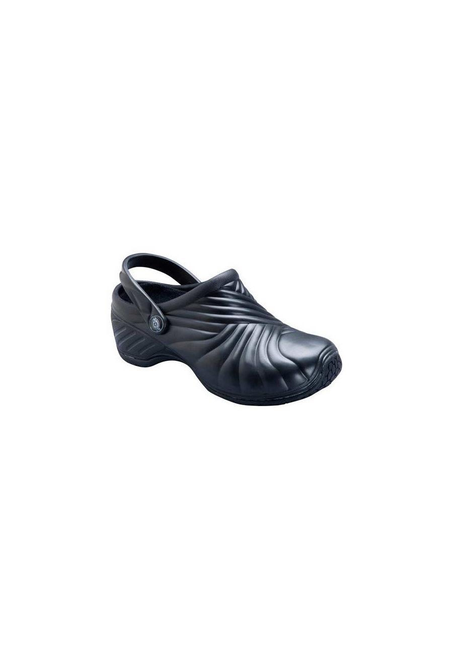 Dickies Zigzag Slip Resistant Nursing Clogs - Black - 10 plus size,  plus size fashion plus size appare