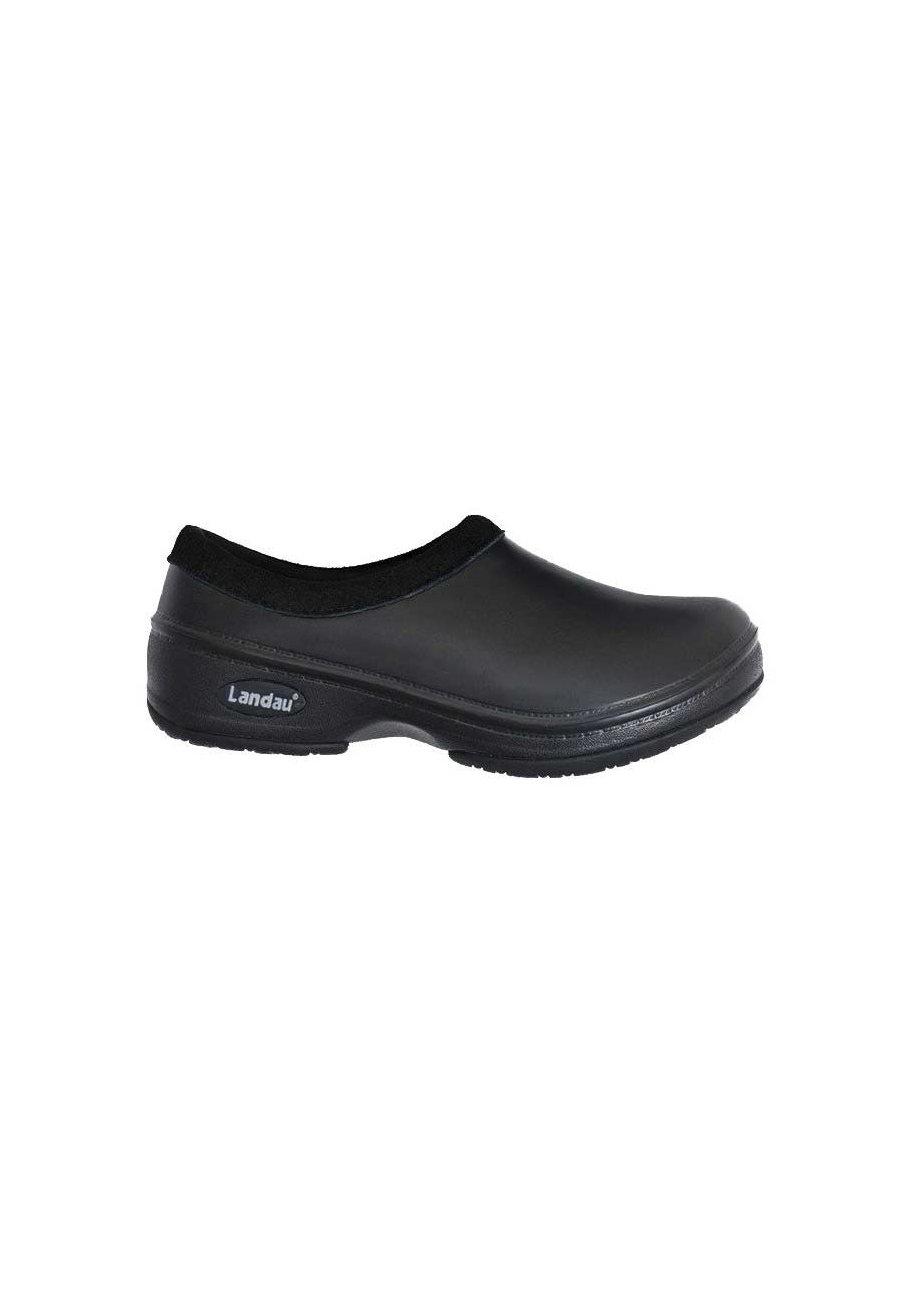 Landau Reneu Slip-on Nursing Shoes - Black - 5 plus size,  plus size fashion plus size appare