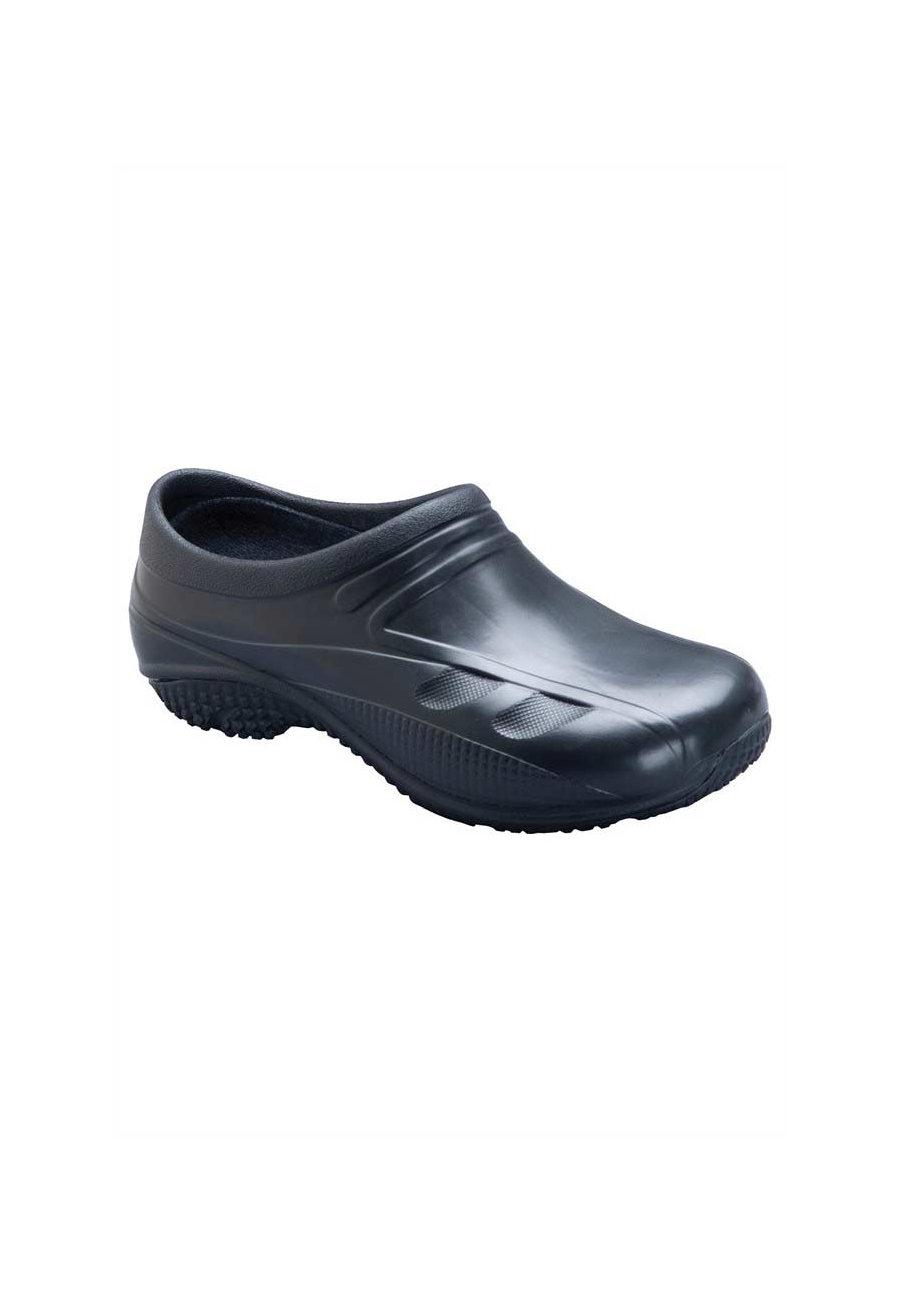 Anywear Exact Closed Back Nursing Clogs - Black - 7 plus size,  plus size fashion plus size appare