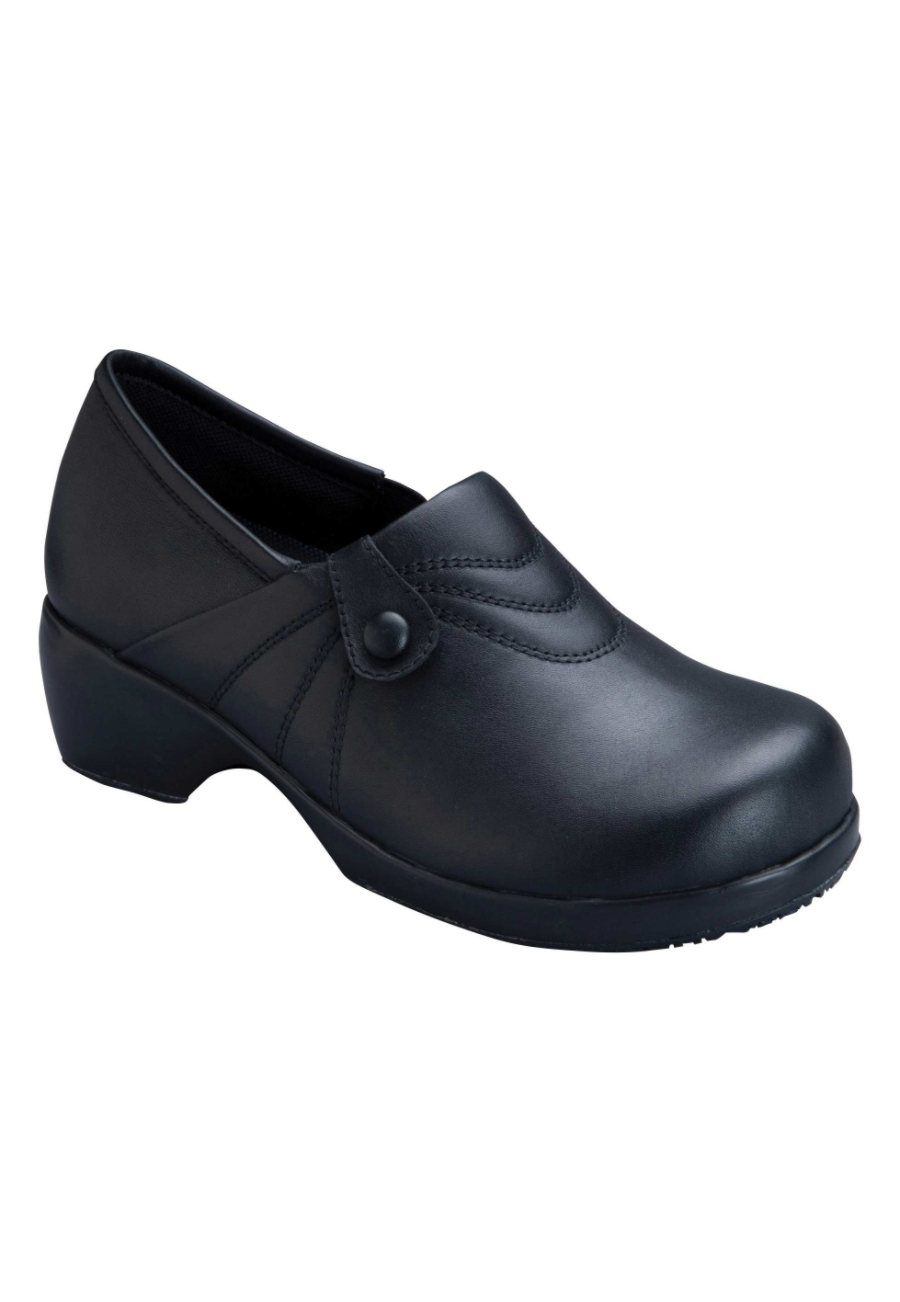 Cherokee Elegance Series Women's Nursing Clogs - Black - 9.5 plus size,  plus size fashion plus size appare