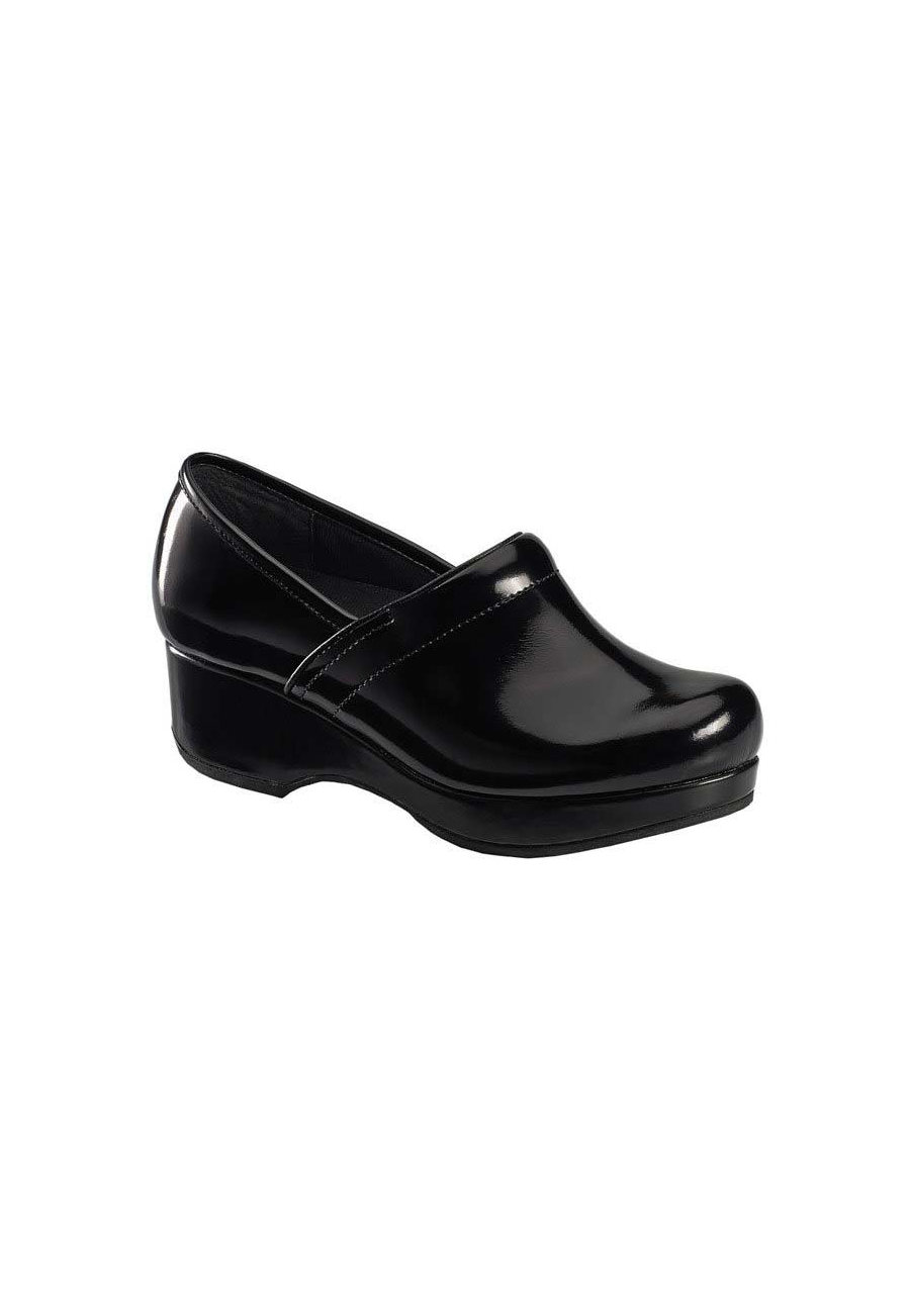 Cherokee Angelique Slip Resistant Nursing Clogs - Black Glossed - 8.5 plus size,  plus size fashion plus size appare