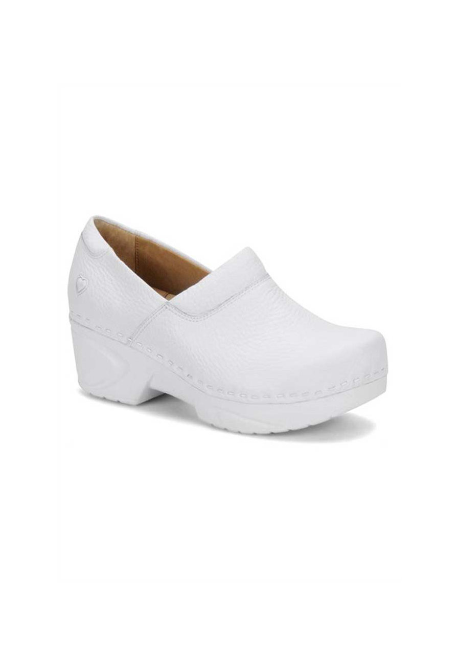 Nurse Mates Chloe Slip-Resistant Nursing Clogs - White - 6 plus size,  plus size fashion plus size appare