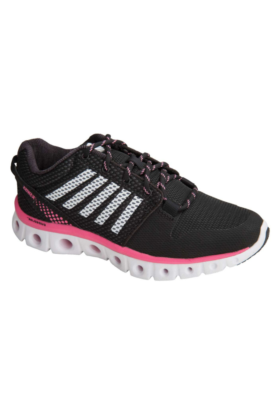 K-Swiss Comfort Series With Memory Foam Athletic Shoes - Black - 6.5