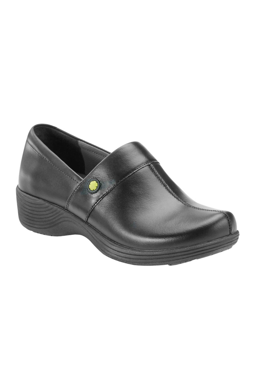 Dansko Work Wonders Camellia Nursing Clogs - Black Leather - 36 plus size,  plus size fashion plus size appare