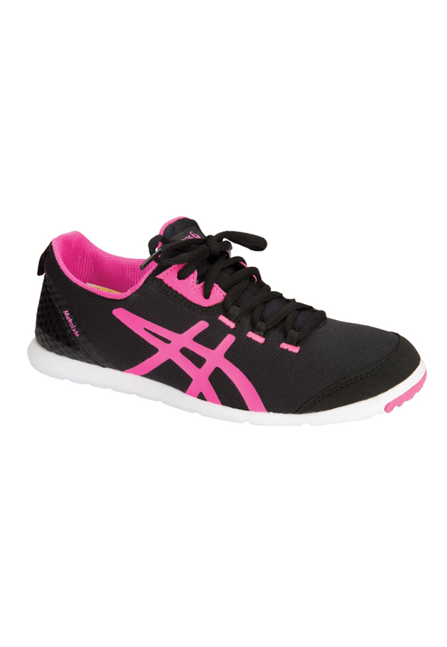 Image of Asics Metrolyte Women's Lace Up Shoes - Black/Flash Pink/White - 6
