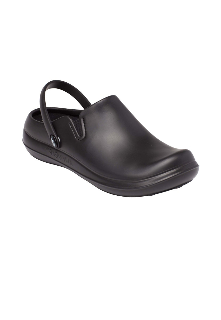Image of Anywear Alexis Unisex Slip Resistant Nursing Clogs - Black - 10