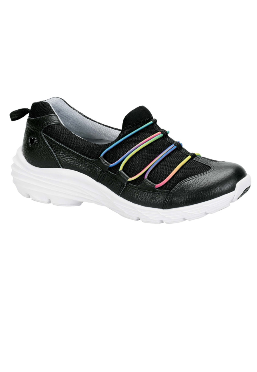 Nurse Mates Align Dash Slip-on Fashion Nursing Shoes - Black Rainbow - 10 plus size,  plus size fashion plus size appare