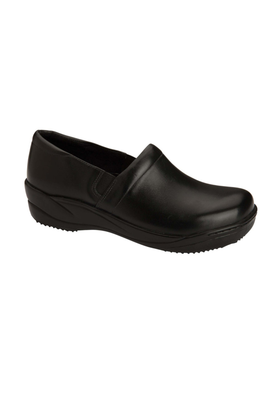 Anywear Miley Slip Resistant Smooth Leather Nursing Clogs