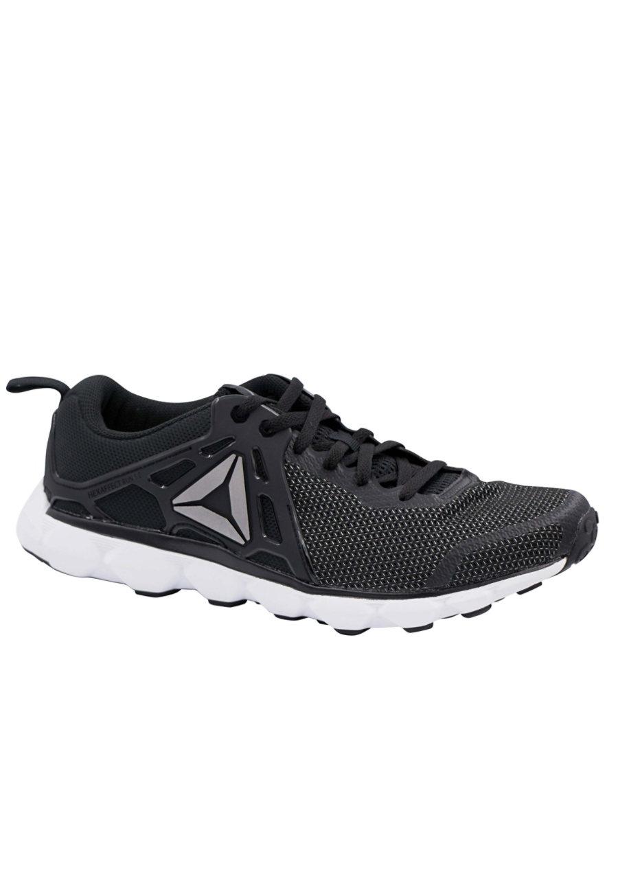 Reebok HexAffectRun Men's Athletic Shoes - Black/White/Pewter - 8