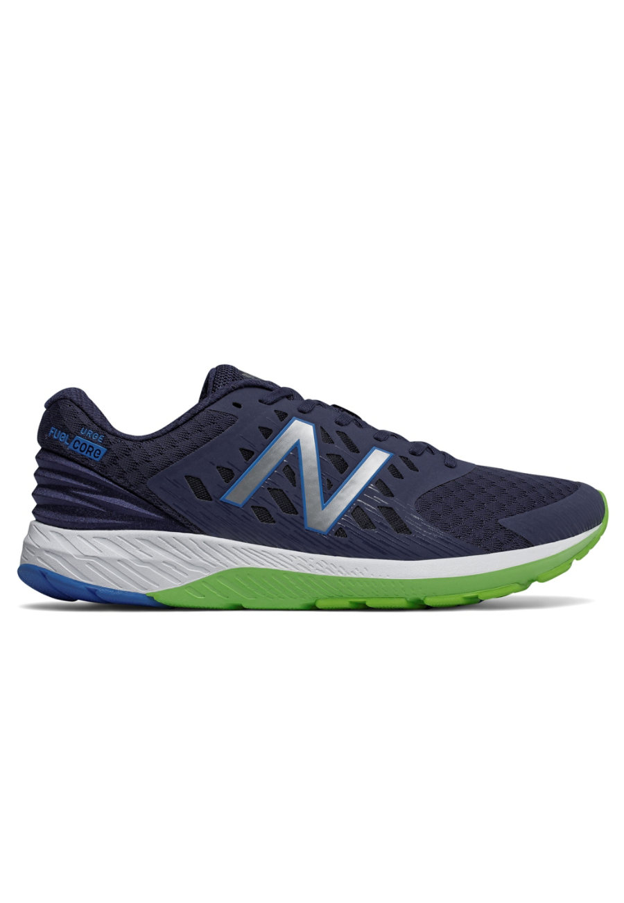New Balance Men's URGEv2 Fuelcore Athletic Shoes - Dark Cyclone/Energy Lime - 10