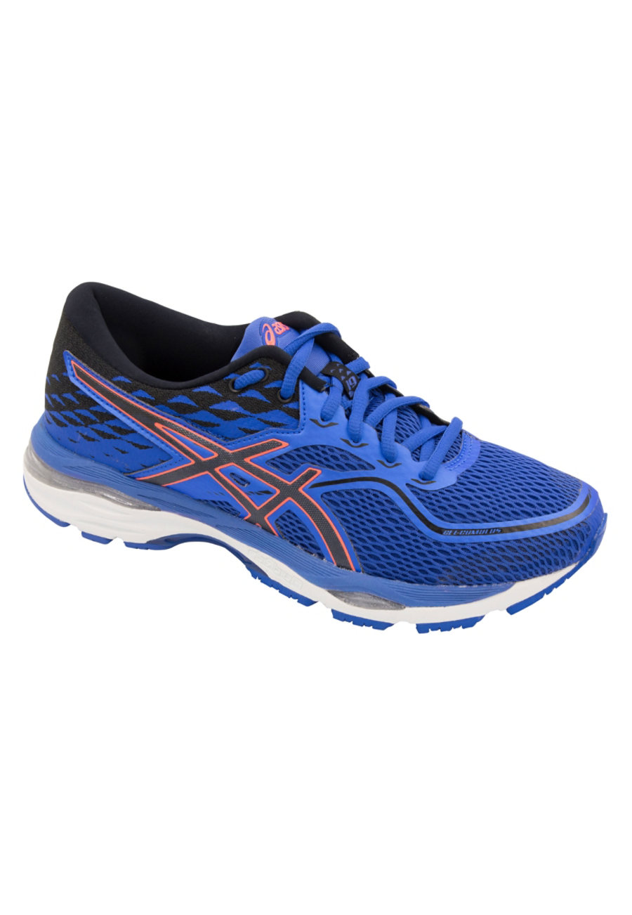 Image of Asics Cumulus Women's Sneakers - Blue Purple/Black/Fresh Coral - 8.5