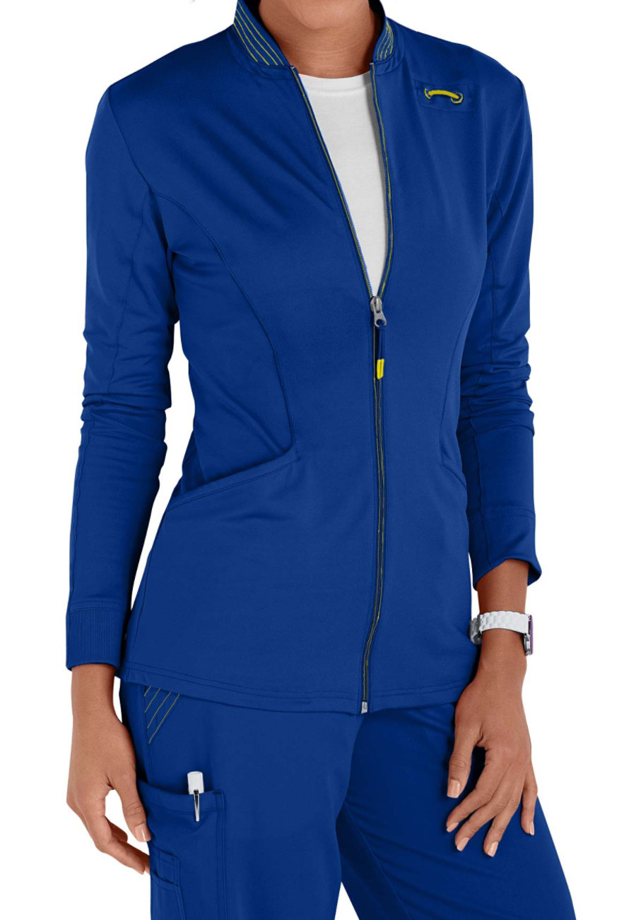 Urbane Ultimate Ultra Kristen Knit  Zip Front Scrub Jackets