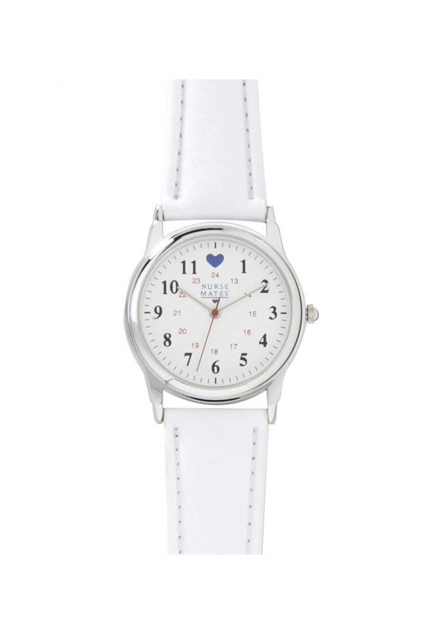 Nurse Mates Watch - White/chrome - OS