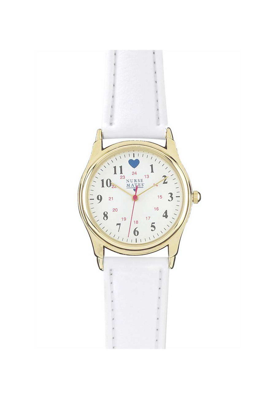 Nurse Mates Military Chrome Watch