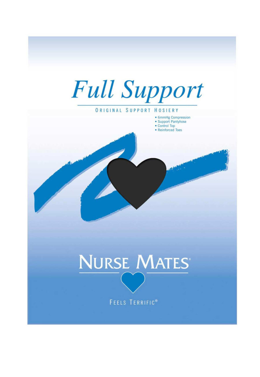 Nurse Mates Full Support Hosiery - Black - A plus size,  plus size fashion plus size appare