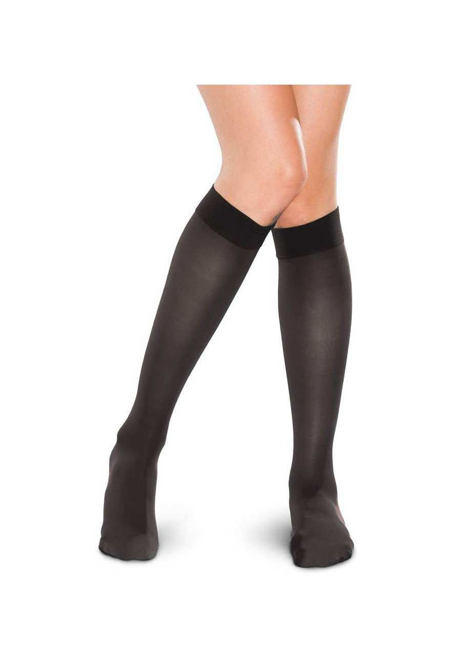 Therafirm Light Support Women's Knee-high Stockings - Black - L plus size,  plus size fashion plus size appare