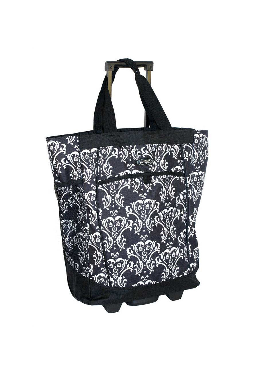 Olympia Rolling Carry-all Tote Bags Damask