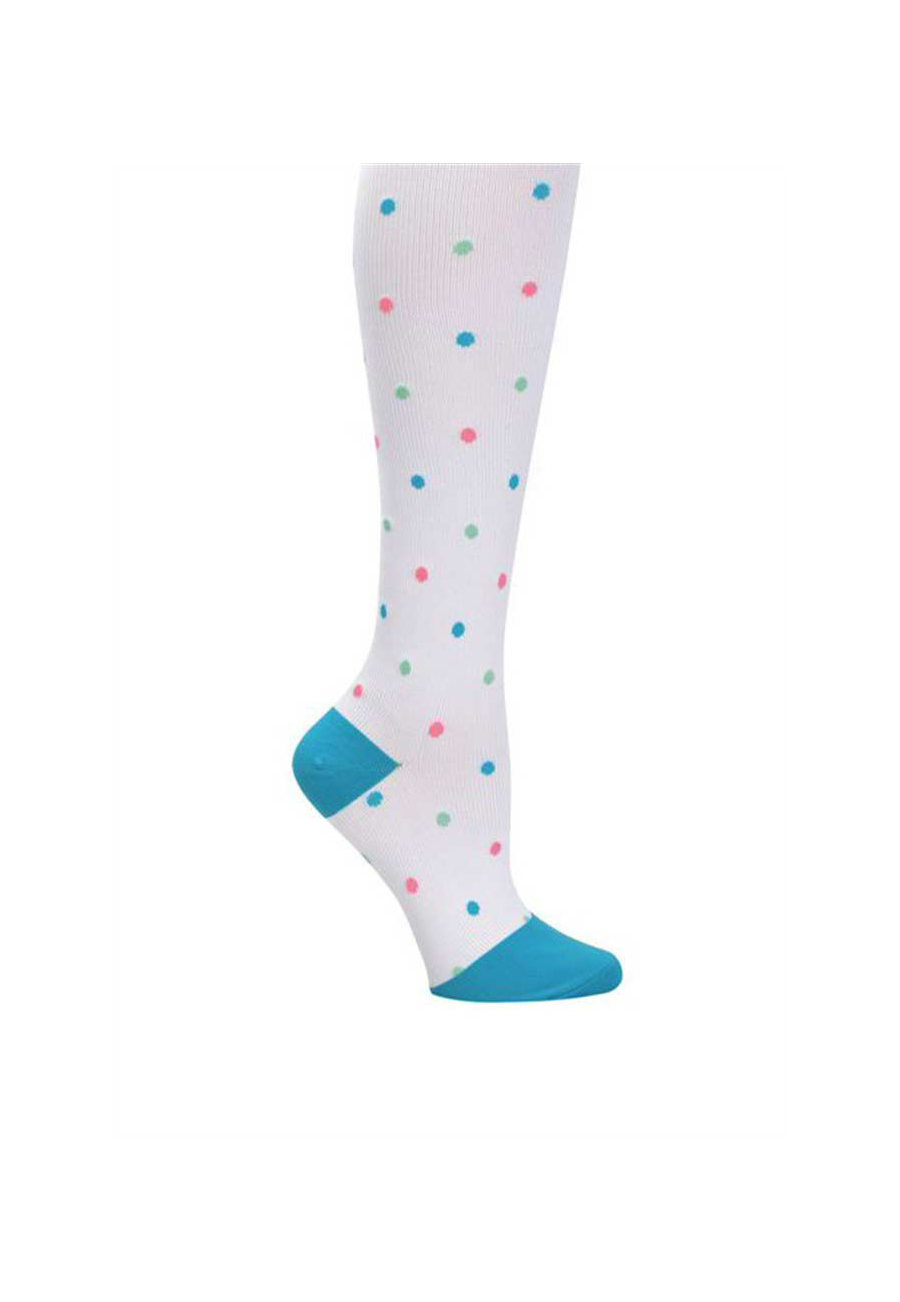 Nurse Mates Polka Dot Compression Trouser Socks