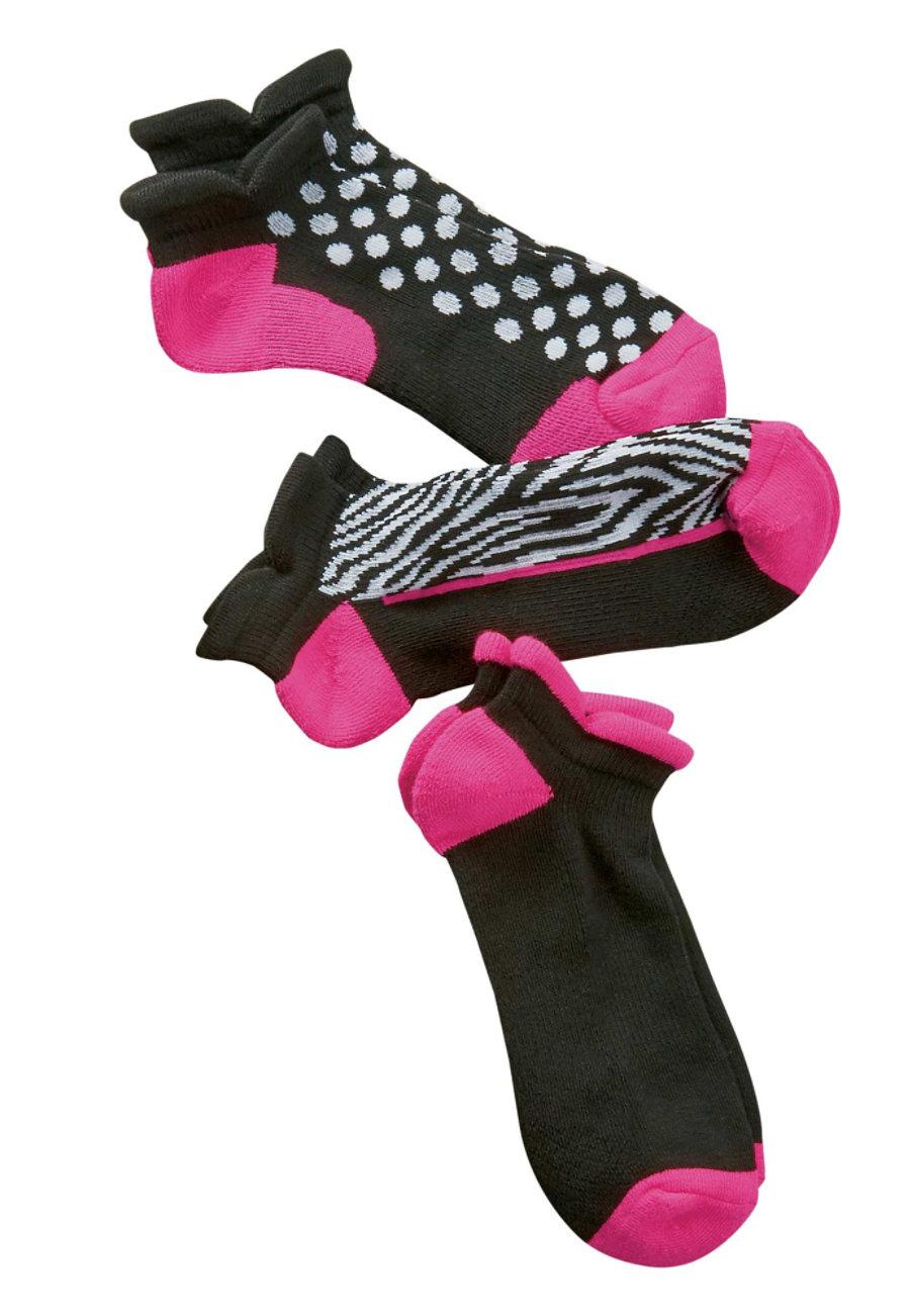 Smitten Classic Rock 3 Pairs Pink Fashion Socks