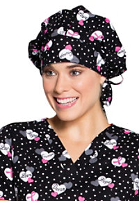 Code Happy Print Scrub Hats With Certainty