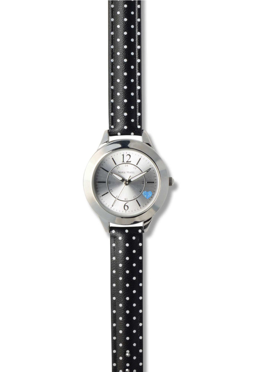 Nurse Mates Classic Dots Watches - Black - OS plus size,  plus size fashion plus size appare