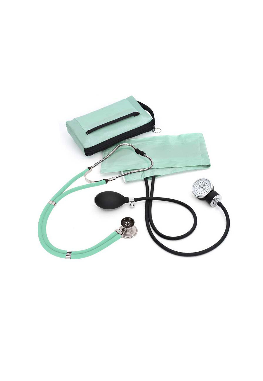 Beyond Scrubs Aneroid Sphygmomanometer/sprague-rappaport Solid Kits Sea