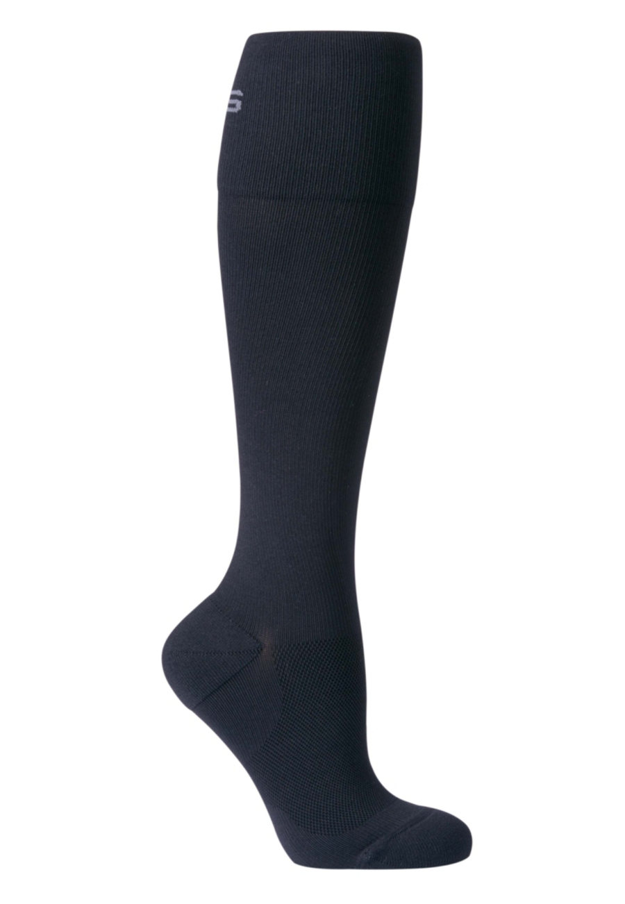 Image of About The Nurse Solid Compression Socks - Black - 2X